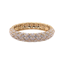 Load image into Gallery viewer, 18K Yellow Gold Round Diamond Bangle