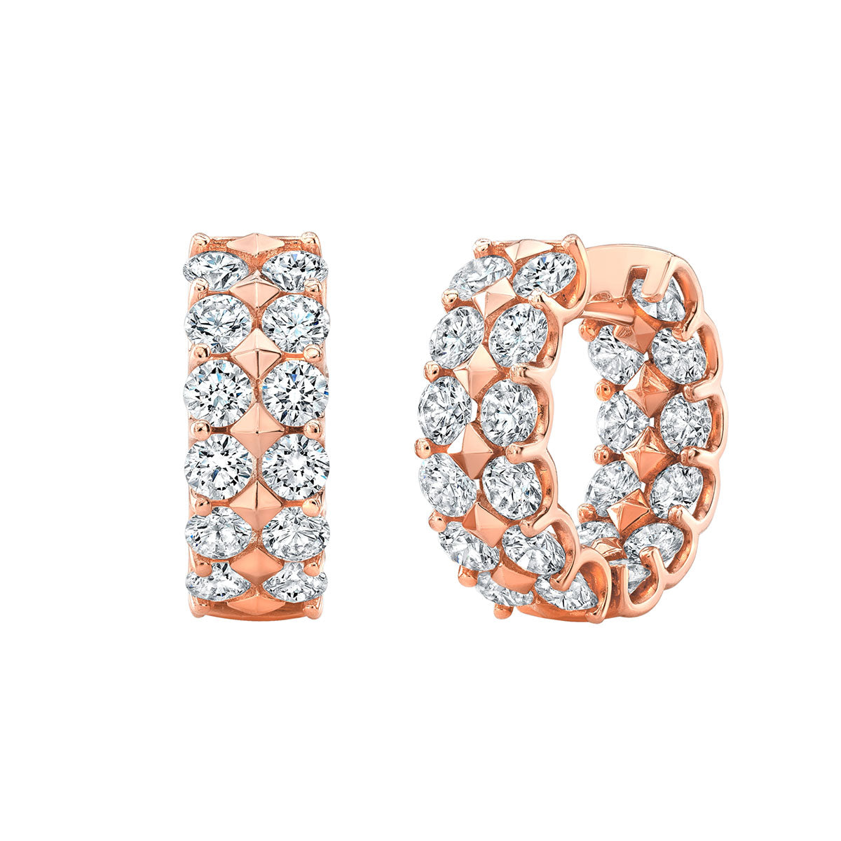 2 Row Bold Diamond Earrings