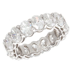 White Gold Oval Diamond Eternity Band