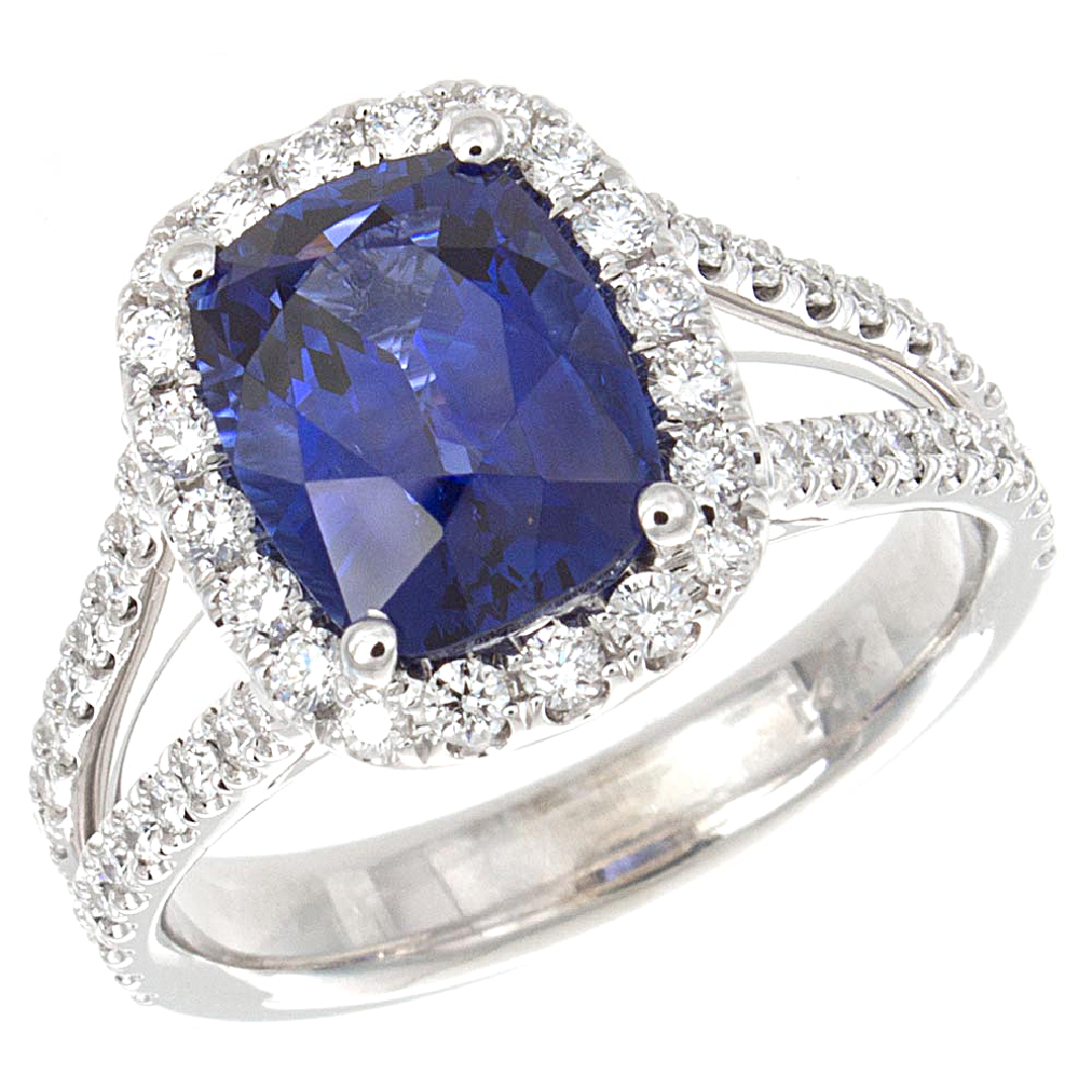 Grand Sapphire and Diamond Ring