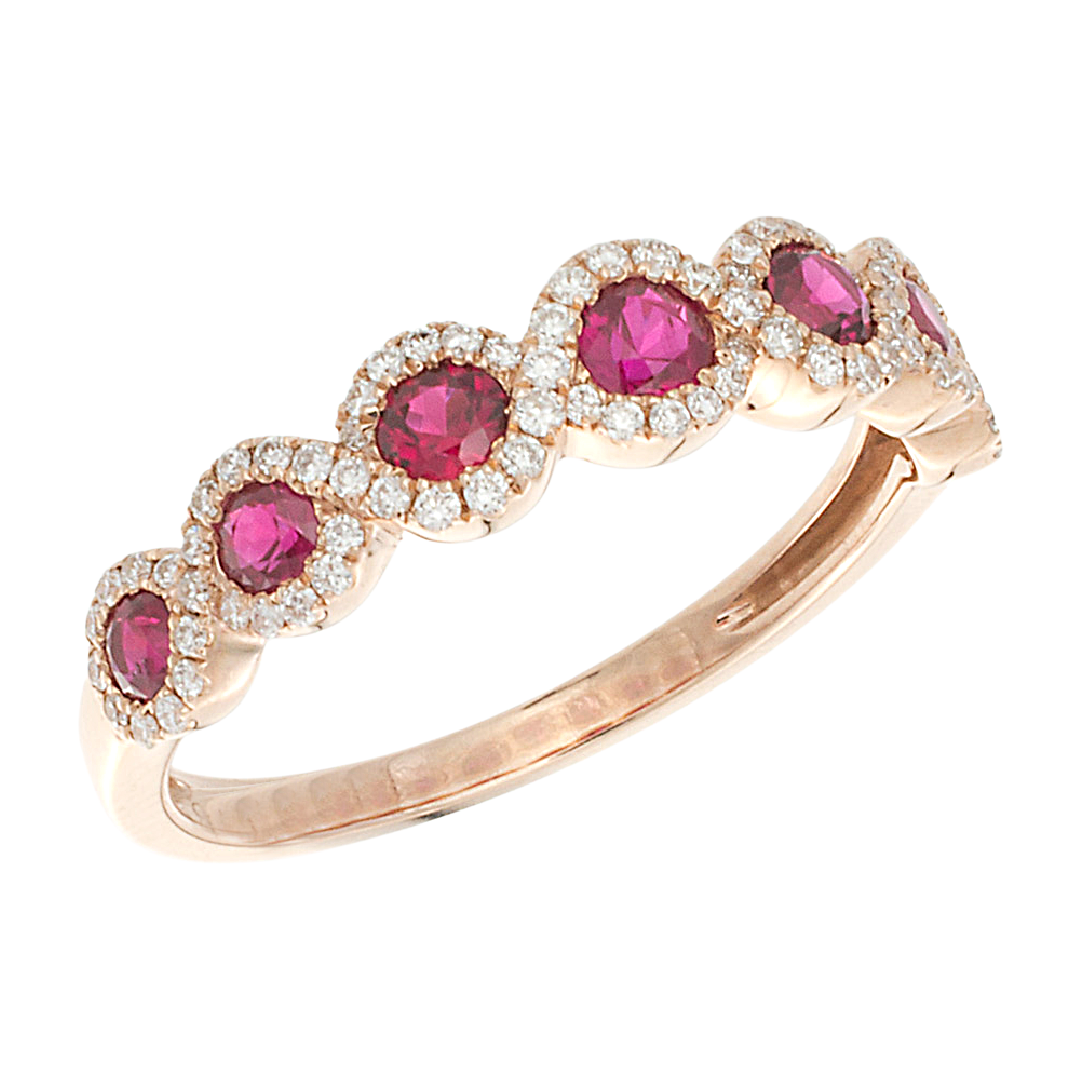14K Rose Gold Ruby Eclipse Ring