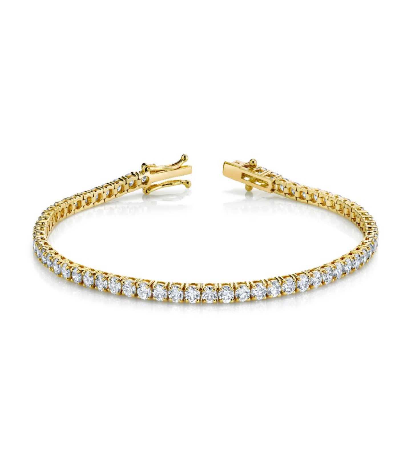 Round Brilliant Straight-line Tennis Bracelet