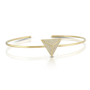 18K Yellow Gold Triangle Bangle