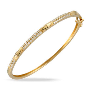 Deco Diamond Bangle