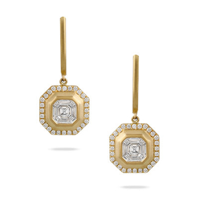 Mykonos Invisible Set Diamond Earrings