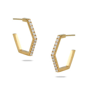Fibonacci Yellow Gold Earrings