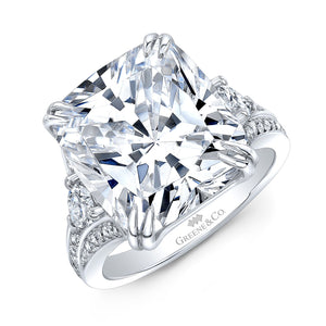 10.03ct Cushion Modified Brilliant Cut - GIA Certified Diamond Engagement Ring