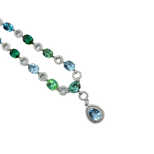 Load image into Gallery viewer, Platinum Imperial Gemstone Necklace