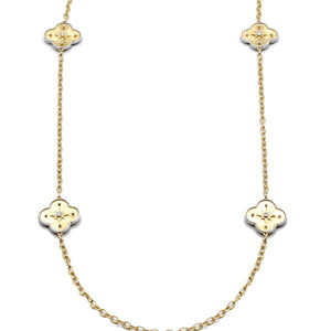 18K Yellow Gold Diamond Chain Charm Necklace