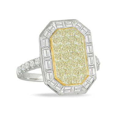 Mondrian Yellow Diamond Ring