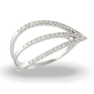 18K White Gold Mini Diamond Ring