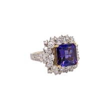 Load image into Gallery viewer, 18K White and Yellow Gold Tanzanite & Diamond Ring