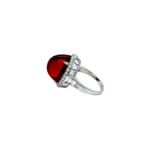 Load image into Gallery viewer, Platinum Fire Opal And Diamond Ring