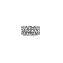 Load image into Gallery viewer, Platinum 3-Row Eternity Round Diamond Band
