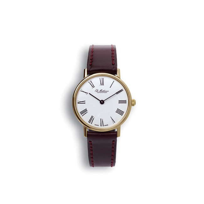 Ole Mathiesen オーレ・マティーセン ウォッチ 28mm Quartz Gold Plated Roman(White dial JP Original)