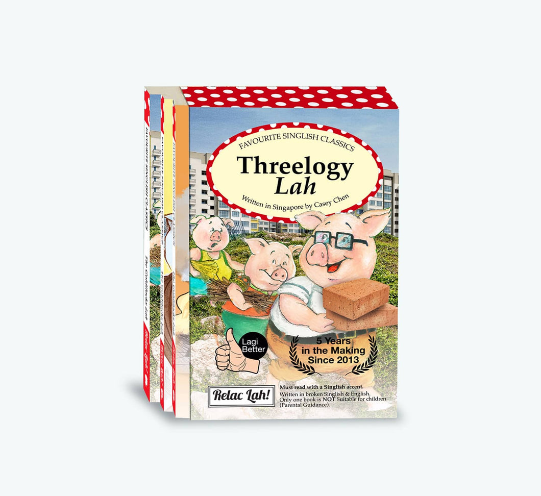 The Threelogy Lah, Singlish Classics Bundle (Set of 3) - English
