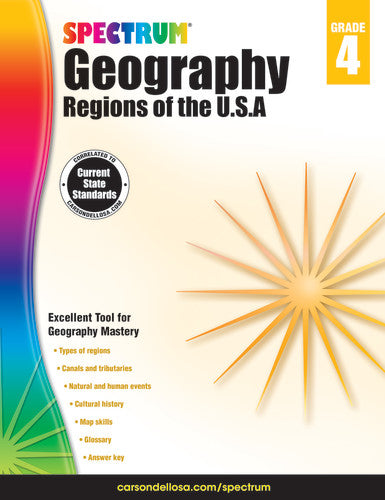 SPECTRUM GEOGRAPHY REGIONS OF THE USA GRADE 4