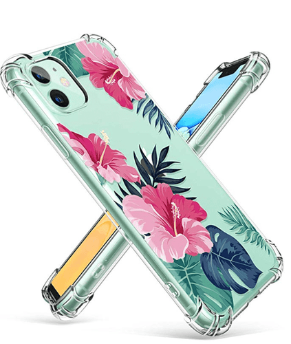 iPhone 11 Floral Transparent Corner Protection Designer iPhone Case For iPhone 11 Pro Max X XS XS Max XR 7 8 Plus