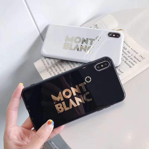 MONT BLANC Style Electroplating Glossy TPU Silicone Designer iPhone Case For iPhone 11 Pro Max X XS XS Max XR 7 8 Plus - Mixi Iphone Case
