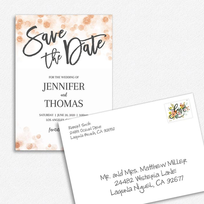 Save the Date Card & Envelope