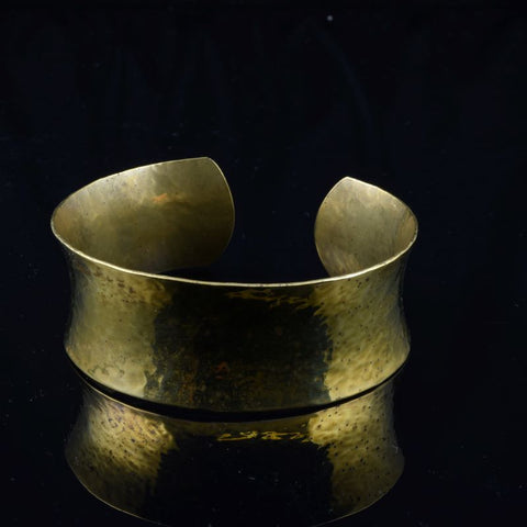 Bronze Cuff planished and formed