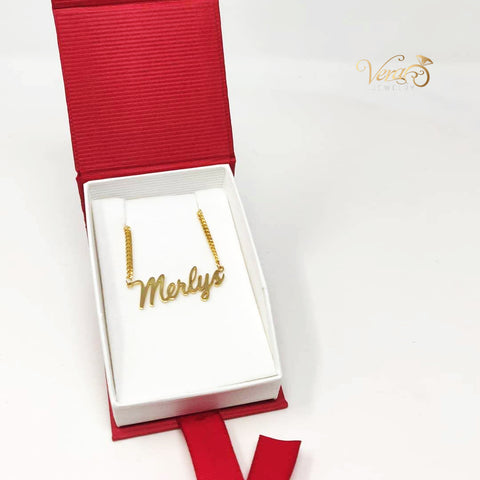 14k solid name necklace gift