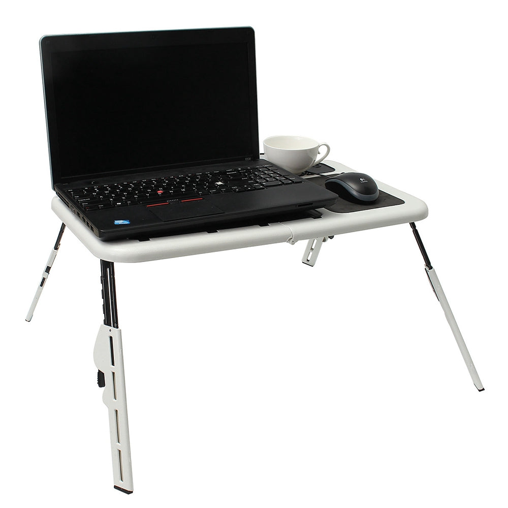 Adjustable Folding Laptop Table With 2 USB Cooling Fans