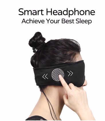 Sleepace™ Sleep Headphones Comfortable Washable Eye Mask Smart App Control Sound Blocking Noise Cancelling Earphone