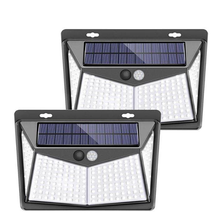 LEDLit™ 208 LED Solar Power PIR Motion Sensor Wall Light Outdoor Garden Lamp Waterproof