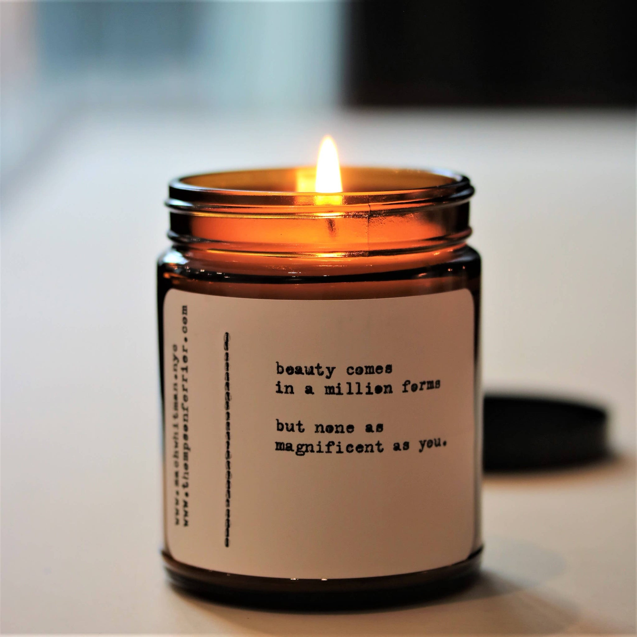 "Zach Whitman Poetry Collection- ""Beauty"" Candle"