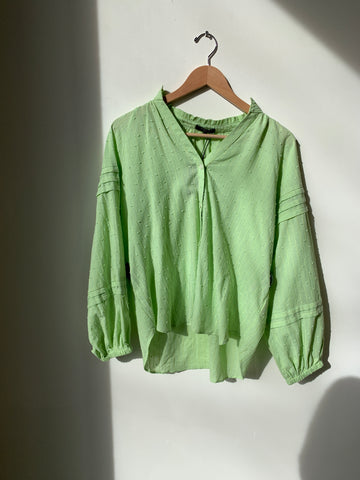Frnch Green Puff Shirt