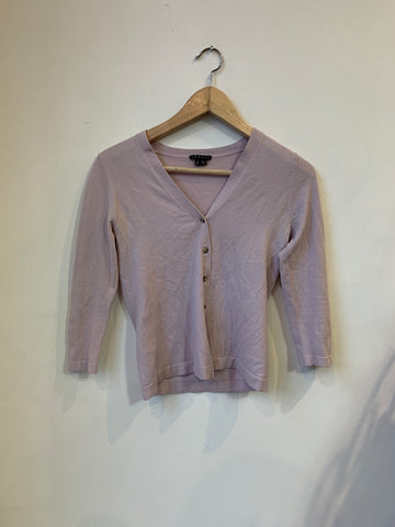 Theory Light Mauve V-Neck Cardigan