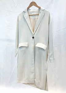 Mid-Length Cream Coat
