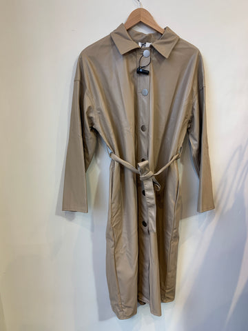 Molly Braken Beige Pleater Long Coat