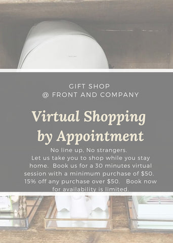 Virtual Shopping by Appointment at our Gift Shop.