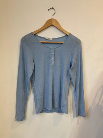 Amomento Light Blue Knit Top