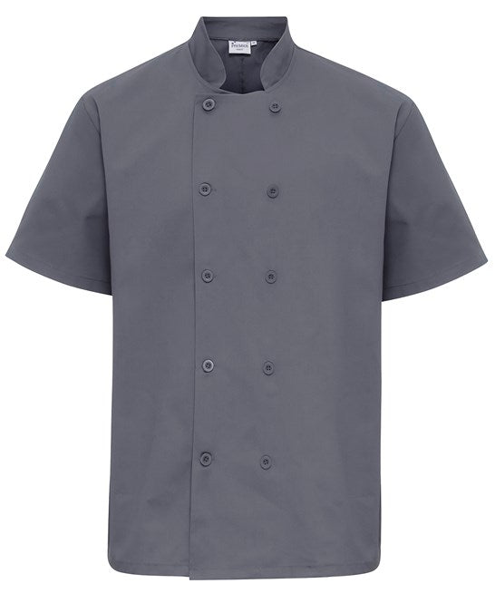 Premier Button Short sleeve chef's jacket - PR656