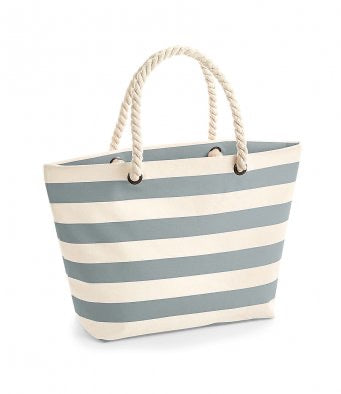 Westford Mill Grey Striped Nautical Beach Bag - WM680