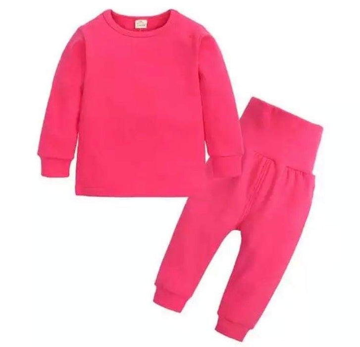 Hot Pink Loungewear Set - Kids
