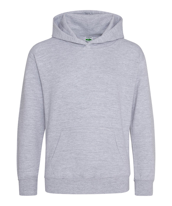 AWDis Heather Grey Kids Hoodie - JH01J