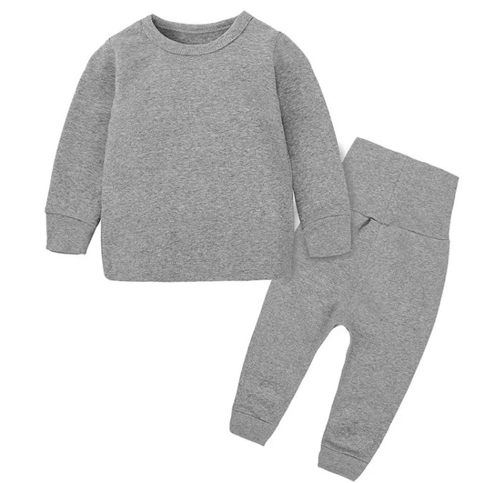 Dark Grey Loungewear Set - Kids