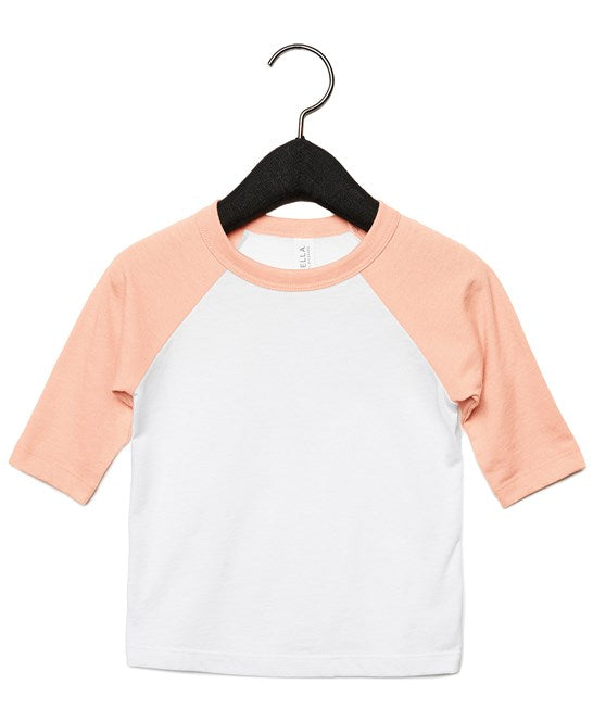 Bella & Canvas Toddler 3/4 sleeve Baseball Tee - BE217