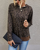 Animal Print Dropped Shoulders Top (3 Colors)