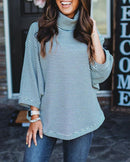 Fall Cowl Neck Striped Top (4 Colors)