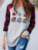 LADIES FAITH & HOPE & LOVE CHRISTMAS SNOWMAN PRINT T-SHIRT
