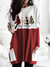 WOMEN'S MERRY CHRISTMAS PRINTED SHIRT