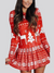 Women's Long Sleeve Christmas Print Dress
