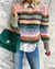 Retro Loose Long-sleeved Color Block Sweater