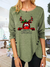 WOMEN'S CHRISTMAS PRINT CASUAL LONG SLEEVE ROUND NECK T-SHIRT