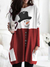 WOMEN'S SNOWMAN PRINT LONG SLEEVE TOP